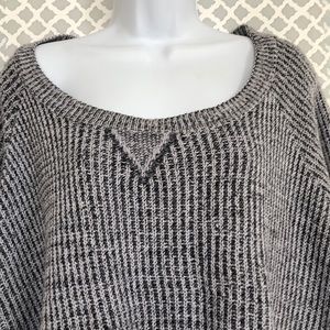 Torrid black white crop top sweater 2